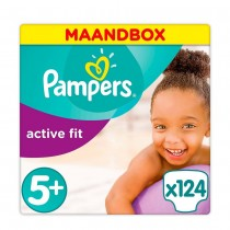 Pampers Active Fit Junior 5+ Maandbox (124st)